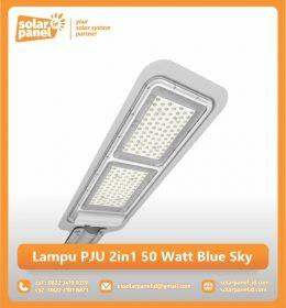 jual lampu pju 2in1 50 watt blue sky