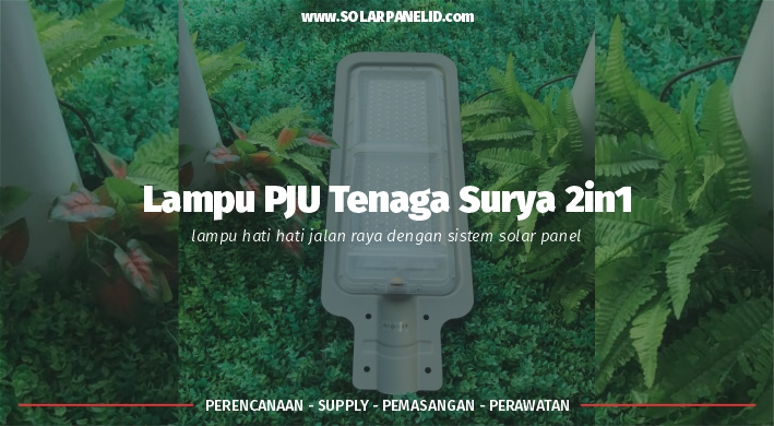 jual lampu pju tenaga surya 2in1 50 watt murah surabaya