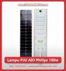 jual lampu pju tenaga surya aio philips 100 watt