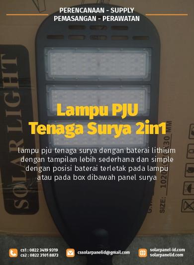jual lampu pju tenaga surya 2in1 80watt satu set