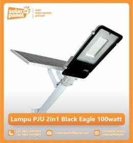 jual lampu pju tenaga surya 2in1 black eagle 100 watt