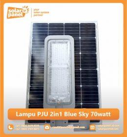 jual lampu pju tenaga surya 2in1 blue sky 70 watt