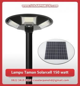 jual lampu taman solarcell 150 watt murah