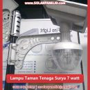 jual lampu taman tenaga surya golden peach light 7 watt