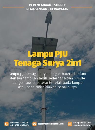 jual pju tenaga surya 2in1 osram 60 watt satu set