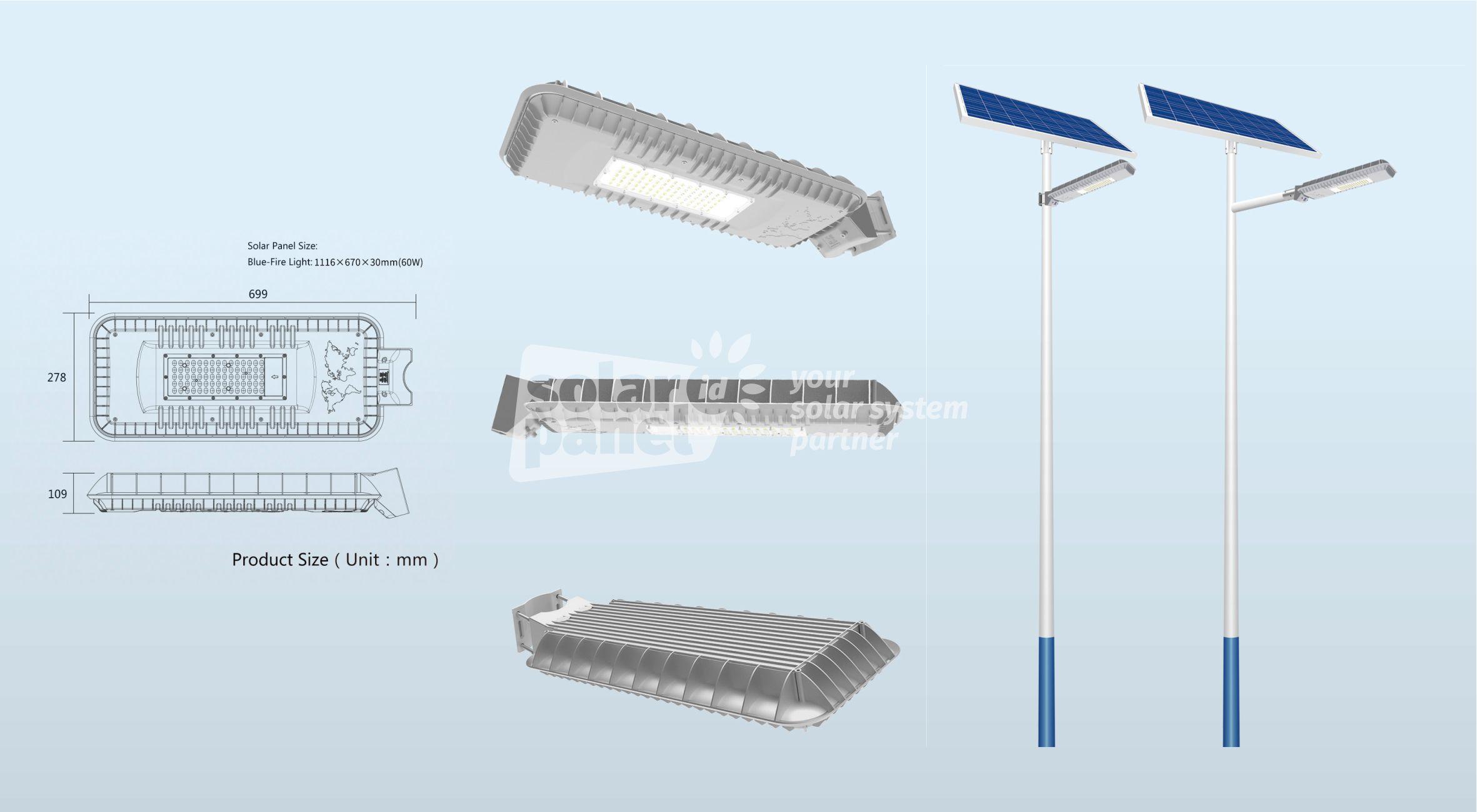 jual lampu pju 2in1 60 watt bluefire murah