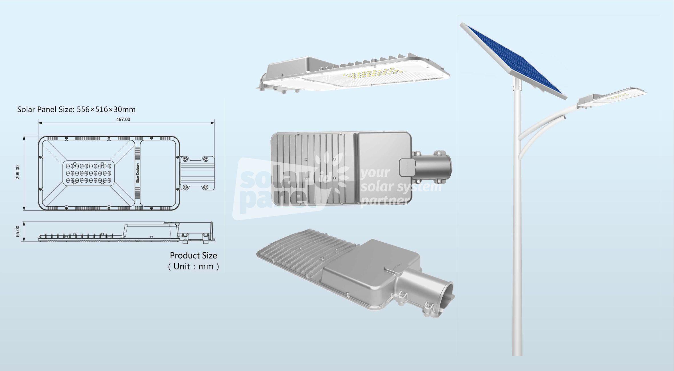 jual lampu pju solarcell 2in1 20 watt simplify light murah