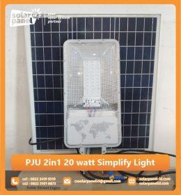 jual pju solarcell 2in1 20 watt simplify light